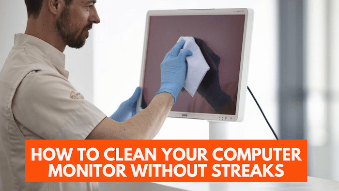 Cleaning monitor computer